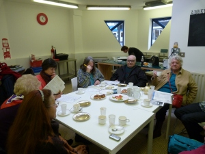New CTC participants enjoying tea together and exchanging ideas