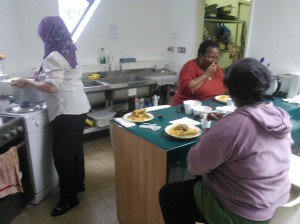 CTC ladies making and eating couscous!