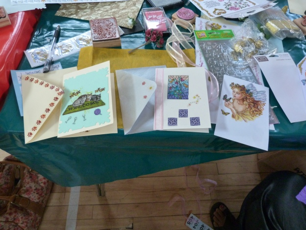 Some of the lovely cards made.