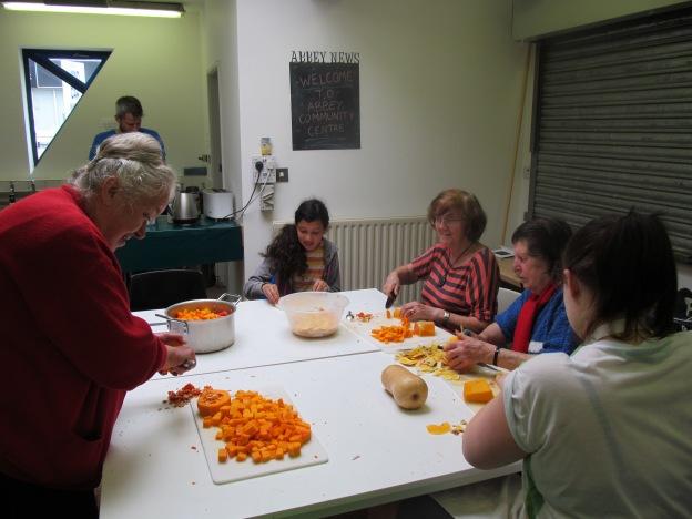 Chefs preparing...