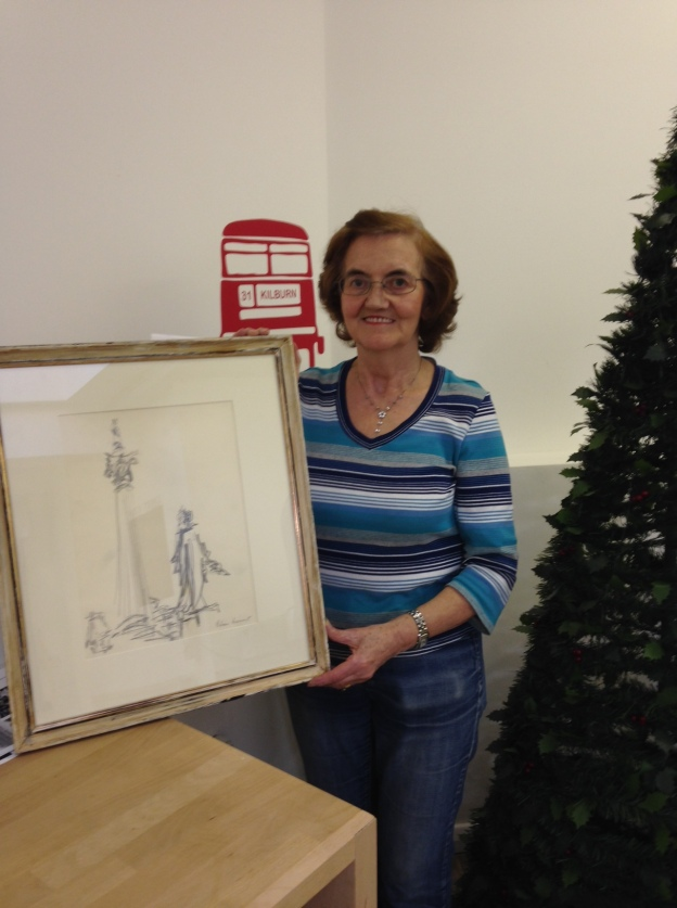 One of our raffle winners with her work of art!