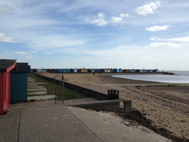 Beach and huts of Brightlingsea