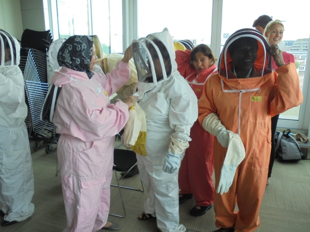 No not astronauts.... Beekeepers!