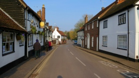 on the way back through the typical English village